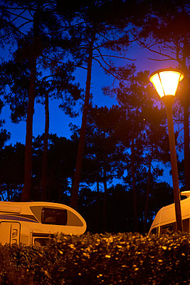 Campground at night - p1312m1502218 by Axel Killian