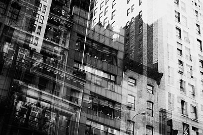 Multiple exposure of building facades  - p301m960772f by Michael Mann