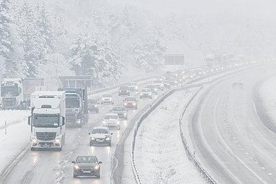 Winter motorway - p312m2050068 by Mikael Svensson