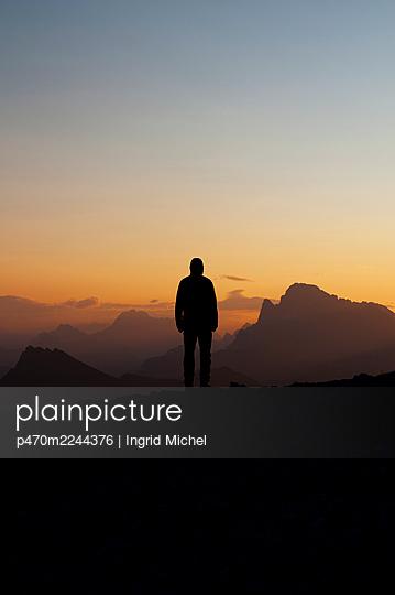 Pale di San Martino at sunrise - p470m2244376 by Ingrid Michel