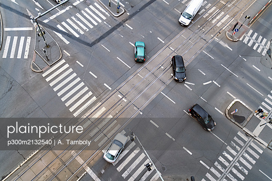 Junction seen from above, Prague, Czech Republic - p300m2132540 by A. Tamboly