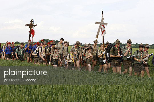 Traditionalist Catholic pilgrimage, Eure-et-Loir, France, Europe