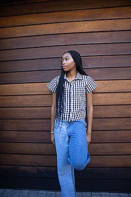 African teenage girl with dreadlocks - p1640m2259897 by Holly & John