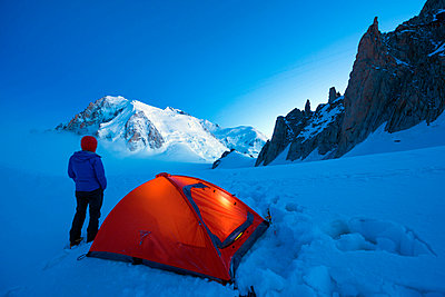 """camping beneath Mont Blanc (4810m); (MR)"" - p652m807663 by Christian Kober"