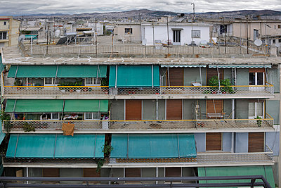 Athens balconies - p1048m1040896 by  Mark Wagner
