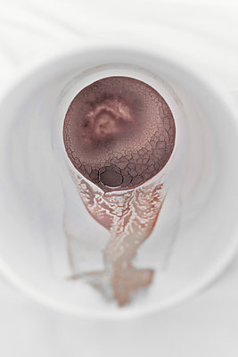 Cocoa mug sediment abstract - p1048m1519282 by Mark Wagner