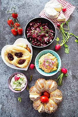Vegetarian Bavarian Buffet - p300m1205902 by Sandra Roesch