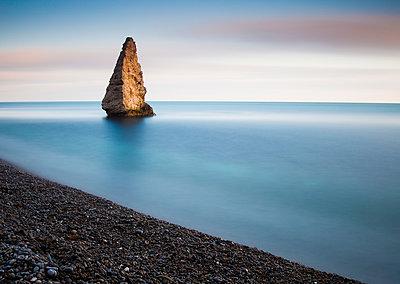 Sea Stack, Jurassic Coast, Dorset, England - p651m2007023 by Tom Mackie