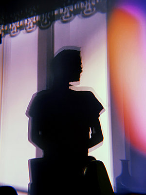 Silhouette of a man - p1189m2263789 by Adnan Arnaout
