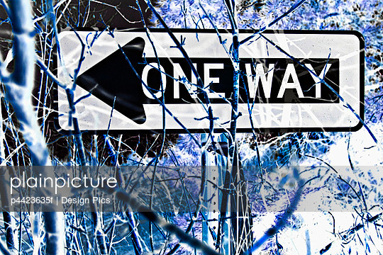 One Way sign - p4423635f by Design Pics