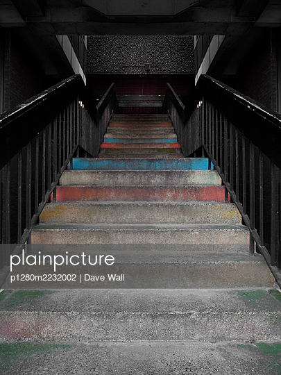 Bright concrete steps  - p1280m2232002 by Dave Wall