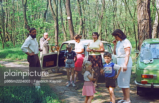 Germany, Family trip with Wartburg and Trabant in the GDR - p986m2224003 by Friedrich Kayser