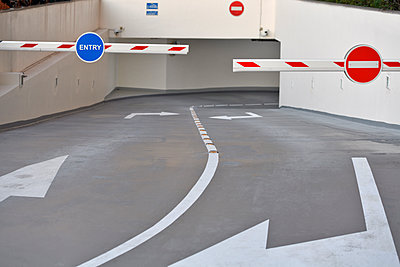 Car park entrance / exit barriers - p1048m1512714 by Mark Wagner