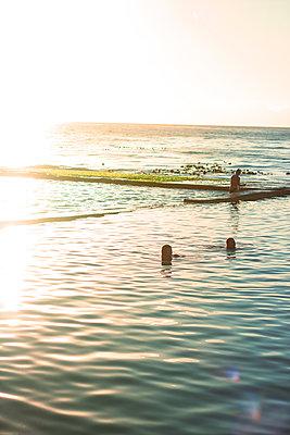 Bathing at sunrise - p1640m2254654 by Holly & John