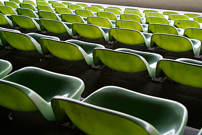 Green chairs - p3450068 by Rainer Gollmer