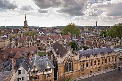 Brasenose College and Oxford skyline, Oxfordshire, England, United Kingdom, Europe - p871m1048041 by Adam Burton
