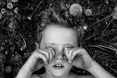 Sleepy Child Outdoors - p1262m1064010 by Maryanne Gobble