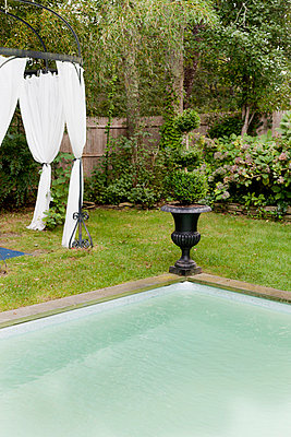 Gazebo and pool - p956m748782 by Anna Quinn