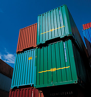 Shipping containers in shipyard - p42916988 by Charlie Fawell