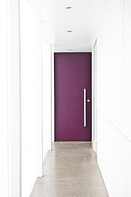 Door at End of Hallway - p1100m2090807 by Mint Images