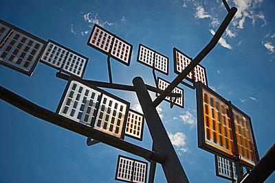Germany;  Ulm;  solar tree in the Ulmer residential area solar city - p300m838677f by Walter G. Allgöwer