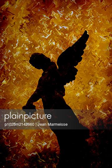 Burning angel - p1028m2142660 by Jean Marmeisse