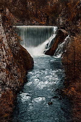 Dam on the river in canyon - p1382m1286497 by dimitrije tanaskovic