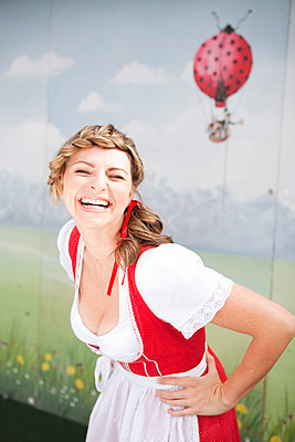 Woman in a dirndl - p8140014 by Renate Forster