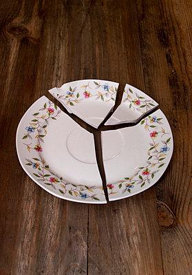 Broken dish - p971m740859 by Reilika Landen