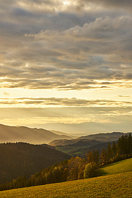 Black Forest view into the Rhine valley in autumn - p1312m2161014 by Axel Killian