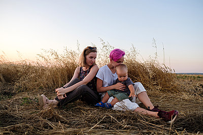 Woman with son and sister  - p1363m2258712 by Valery Skurydin