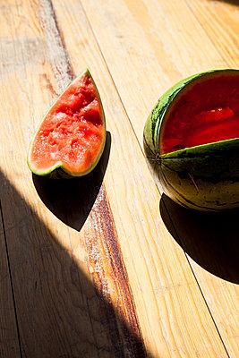 Watermelon stilllife  - p1514m2100274 by geraldinehaas