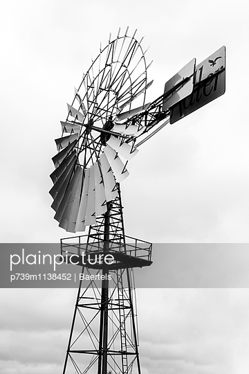 Wind wheel as an industrial monument - p739m1138452 by Baertels