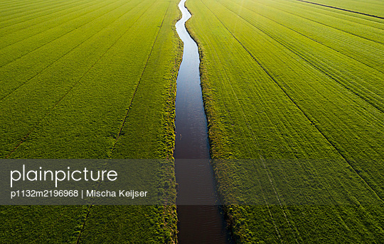 Netherlands, Drainage in a field - p1132m2196968 by Mischa Keijser