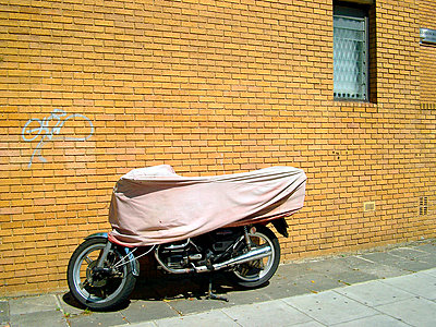 motorcycle in london  - p5670129 by Norma Ericsson