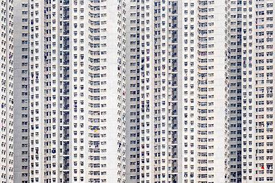 Public housing apartment block towers in Tseung Kwan O, Sai Kung District, New Territories, Hong Kong, China - p651m2104750 by Jason Langley photography