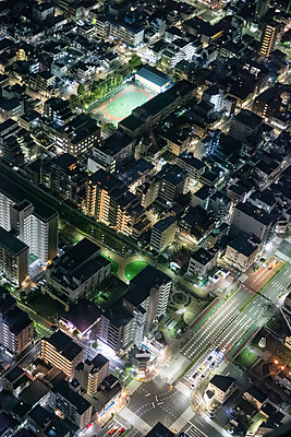 Night views of Tokyo from the Skytree Tower, Japan. - p855m1482398 by Ben Tynegate