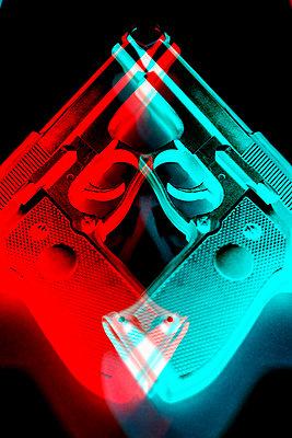 Two hand guns, CGI - p975m2286082 by Hayden Verry