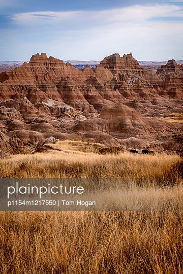 Canyon  in Badlands National Park  - p1154m1217550 by Tom Hogan