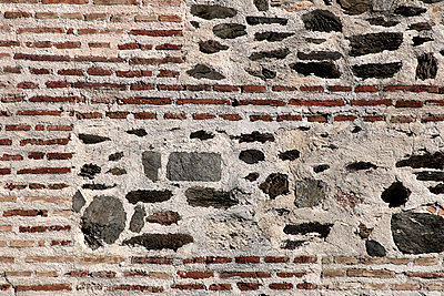 The wall of a castle, the Castle of Sohail, Fuengirola. - p3228721 by Kati Kalkamo
