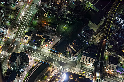 Night views of Tokyo from the Skytree Tower, Japan. - p855m1482399 by Ben Tynegate