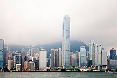 Hong kong, hong kong island, skyline of central district - p9244889f by Image Source