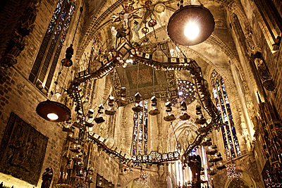 Interior of church in Majorca - p1065m1183393 by KNSY Bande
