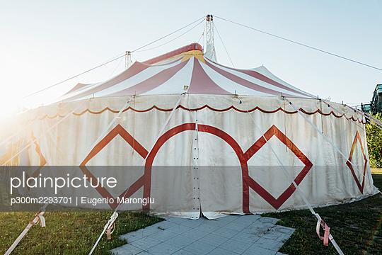 Footpath leading towards circus tent - p300m2293701 by Eugenio Marongiu