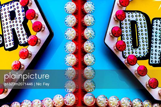 Funfair, Neon sign - p1523m2071446 by Nic Fey