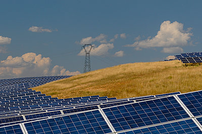 Solar power plant, Les Mees, Provence, France - p924m2145321 by Delta Images