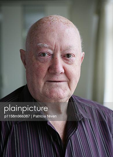 Elderly man - p1158m966387 by Patricia Niven