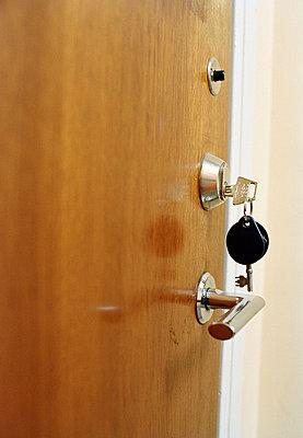Keys in a door lock Stockholm Sweden. - p5280871 by Dan Lepp