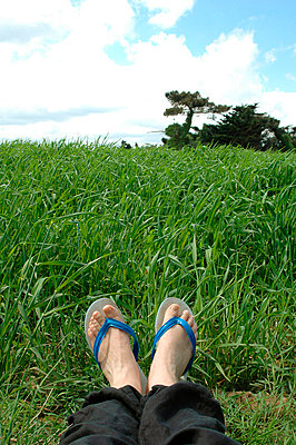 Feet and flip flops - p6810014 by Sandrine Léon
