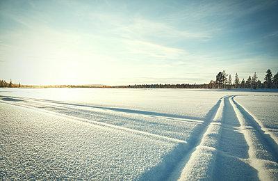 weite Schneelandschaft im Norden Schwedens - p1198m1123619 von Guenther Schwering